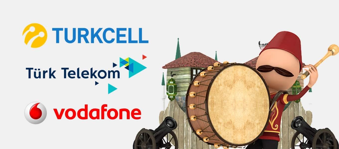Turkcell - Vodafone - Türk Telekom Sahur Paketi