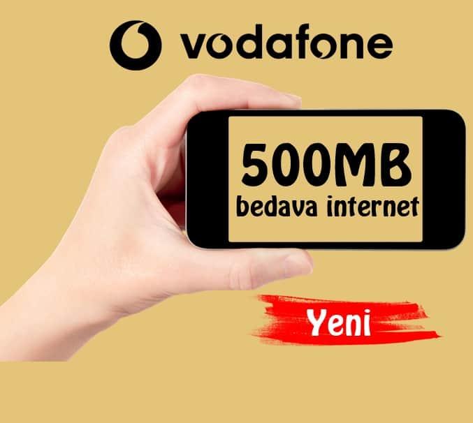 Vodafone 500MB Bedava İnternet