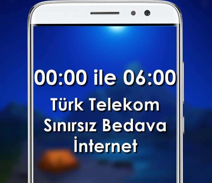 Türk Telekom Sınırsız Bedava İnternet