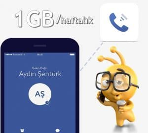 Turkcell Upcall 1GB bedava internet