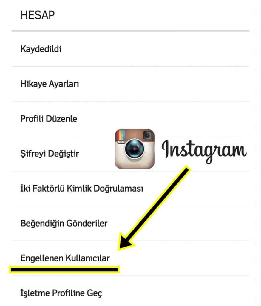 Instagram Engellediklerim Listesi
