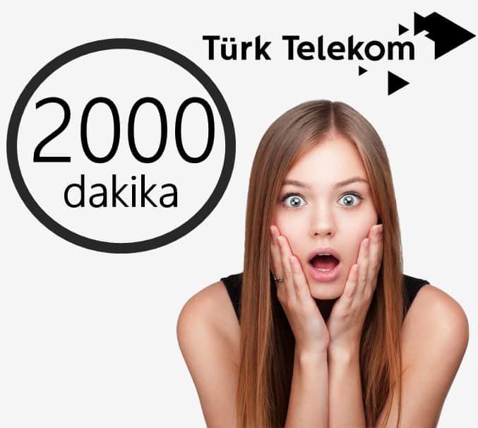 Türk Telekom 2000 Dakika Konuşma Paketi