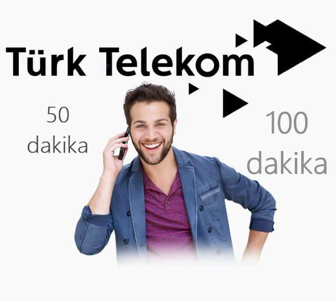 Türk Telekom 50 ve 100 Dakikalık Bedava Konuşma Paketi