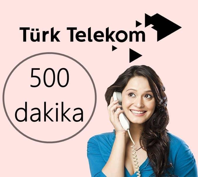 Türk Telekom 500 Dakika Bedava Dakika