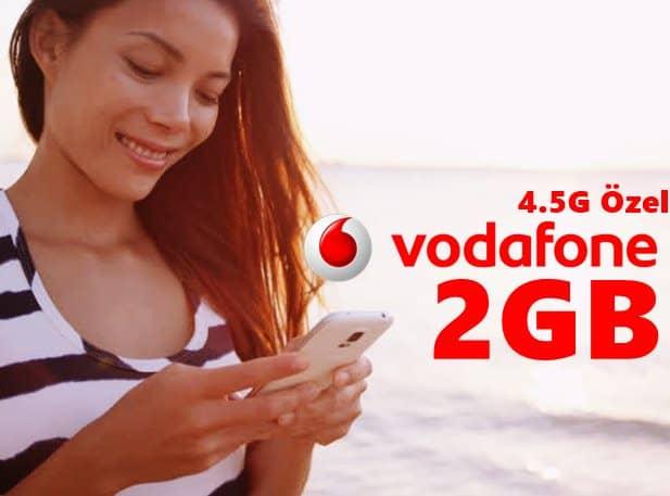 Vodafone 4.5G Kullanıcılarına Özel Bedava İnternet