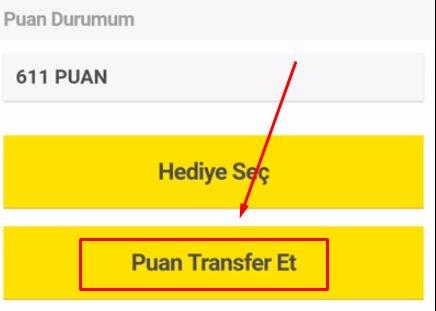 Sarı Kutu Puan Gönderme Nasıl Yapılır?
