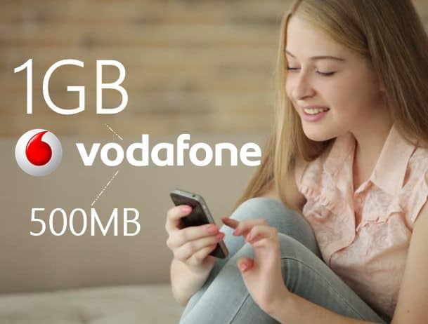 Vodafone 1GB & 500MB Bedava İnternet