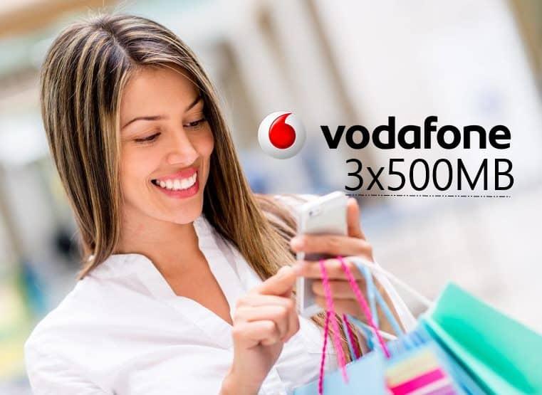 Vodafone 3x500MB Bedava İnternet