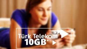 Türk Telekom Yaz Sonu 10 GB Bedava İnternet