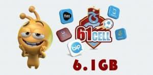 Turkcell 61cell 6.1GB Bedava İnternet
