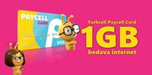 Turkcell Paycell Card 1GB Bedava İnternet