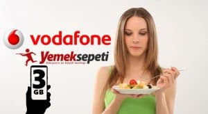 Vodafone FreeZone 3GB Bedava İnternet + Yemek Sepeti