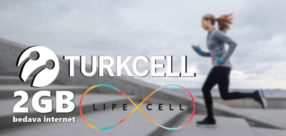 Turkcell Lifecell Aylık 2GB Bedava İnternet