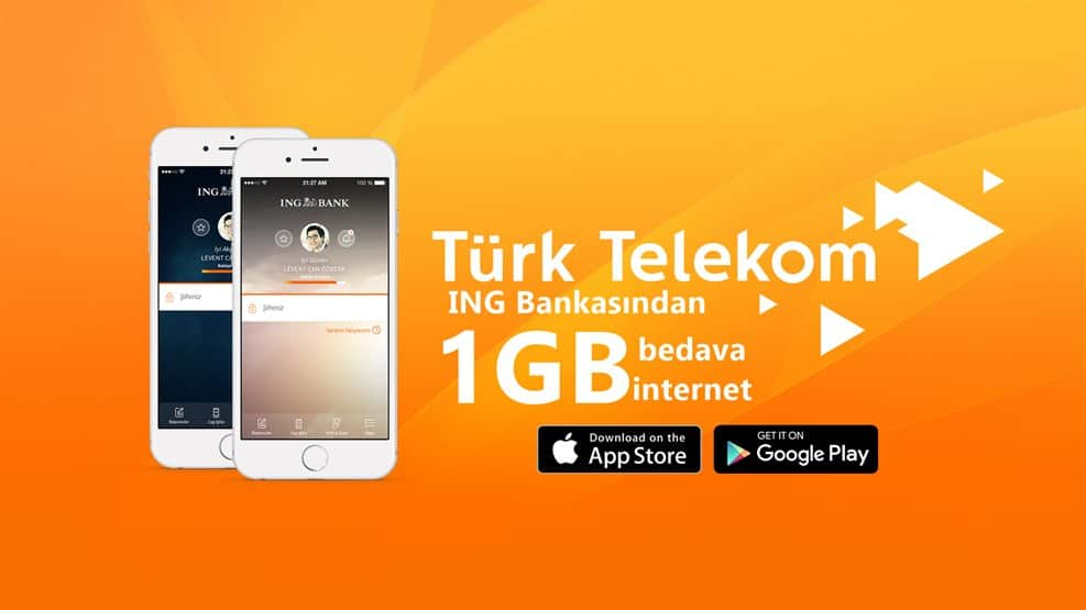 Türk Telekom Her Ay 1GB Bedava İnternet