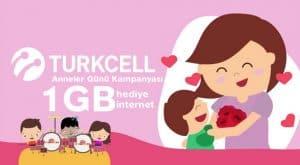 Turkcell Anneler Günü Özel Bedava İnternet Kampanyası