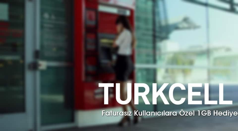 Turkcell Banka Yüklemelerine Özel 1 GB Bedava internet