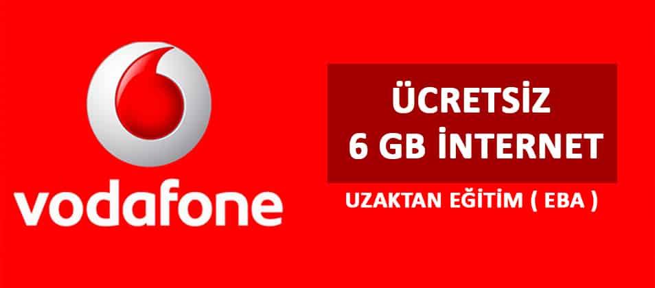 Vodafone EBA 6 GB İnternet Kampanyası